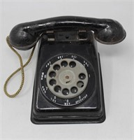 Black Steel Rotary Toy Telephone-Steel Stamp'ng Co