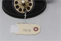 1950's-60's Black Metal Rotary Toy Telephone