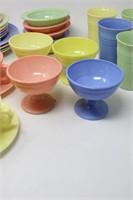Hazel Atlas Platonite Harlequin Moderntone Dishes