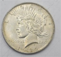 1922 P Silver Peace Dollar XF