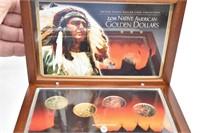 2011 Native American Golden Dollars in Box