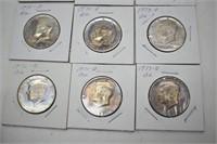 $4.50 Face Value BU 1971-1978  Half Dollars