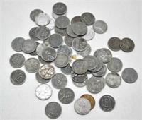 58 1940's Steel Pennies