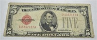 1928 $5 Dollar United States Note Red Seal