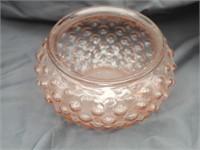 Candlewick Fan Vase Plus Pink Depression Bubble