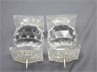Swarovski VTG. Crystal Candle Holders w/Pin Tip