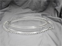 Candlewick Glass Oval Relish/Serving Tray