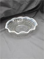 Fenton Opalescent Hobnail Berry Bowl Set