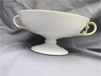 "Nippon ""Hand Painted Pedestal Serving Bowl &"