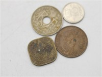 Early 1900's Coins,Decor, & Dice