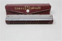 Tombo No.S-50 Chromatic Single Harmonica