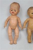 (3) Vtg. Drink & Wet Rubber Vinyl Baby Dolls