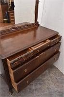 Vintage 5-Drawer Dresser w/ Swivel Mirror