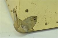 Brass Finish Steamer Trunk w Handles, Cedar