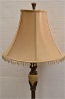 Ornate Metal/Marble Floor Lamp w/Shade