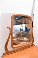 Birds Eye Maple 4 Drawer Dresser w/Swivel Mirror