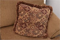 ASHLEY Furniture Chenille Sofa with 2-Pillows