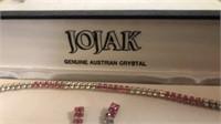 Austrian Crystal Bracelet and earrings,