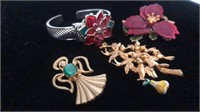 Broach, pin & watch collection