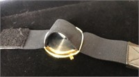 Silver tone bracelet and watch