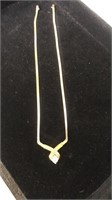 Diamond 14K Gold Necklace - tested