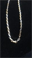 White & yellow gold necklace - tested