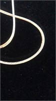 """Gold necklace, 14K, 30"""" in length"""