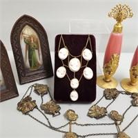 Fine Art Nouveau Perfumes & Sterling Belt, etc