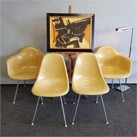 Herman Miller Chairs & MC Chrome Lamp
