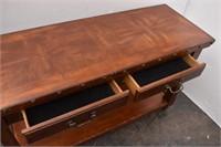 Nailhead Trim Console / Sofa Table