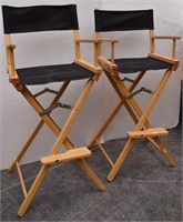 (2) Folding Director Chairs