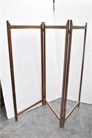 Vintage Wood Folding Room  Divider Frame