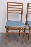 (2) Folding Dining Chairs w/Vinyl Seats