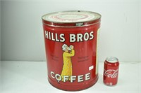 LARGE Hills Bros Coffee 1939 Can
