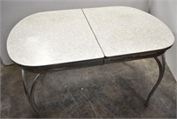 1950's Chrome Gray Formica Dinette Table