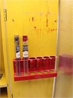 Vtg. GILBERT MICROSCOPE Lab Set in Wooden Cabinet