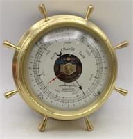 Airguide Ships Wheel Brass BAROMETER