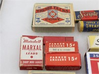 Collection of Vintage Pencil Lead Boxes, German..