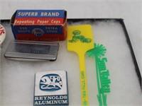 Collection of Paper Caps, Ketchum Idaho Pin-