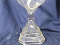 WATERBURY, Conn Glass Oil Lamp w/ Chimney