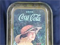 1916 WWI Girl/ Coca-Cola Reproduction Tin Tray