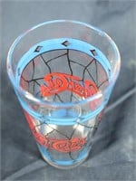 (5) 1970's Pepsi-Cola Stained Glass Style Glasses