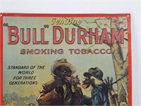 """""""BULL"""" DURHAM Smoking Tobacco Repro Tin Sign"""