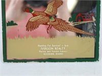 Vtg. IVERSON REALTY Mirrored Ad, Gooding, ID