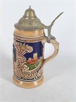 (2) GERZ Lidded Beer Steins-Made in Germany