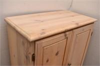 Pickled Pine Armoire 2 Door 2 Drawer Dresser