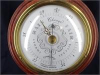 Swift Instrument Mahogany Weather Barometer