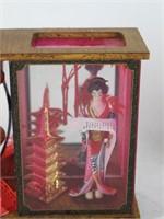 Small Japanese Jewlery Box &   Geisha Diorama