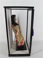 Asian Japanese Geisha Girl Doll with Case