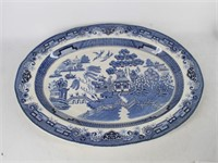 "Blue Willow 18"" Oval Serving Platter"